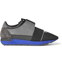 Balenciaga Neoprene Leather And Mesh Sneakers Gray
