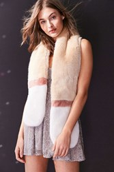 Urban Outfitters Faux Fur Stole White