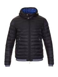 Moncler Vidal Detachable Hood Down Filled Nylon Jacket Navy
