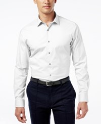 Alfani Spectrum Men's Slim Fit Stretch Dress Shirt Only At Macy's White