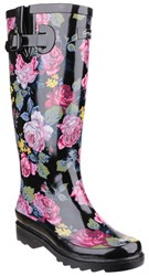 Cotswold Rosefest Wellington Boots Black