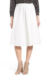 Women's Madewell 'Sidewalk' Cotton Midi Skirt