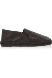 Tomas Maier Embossed Leather Espadrilles