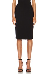 Givenchy Silver Zipper Pencil Viscose Blend Skirt In Black