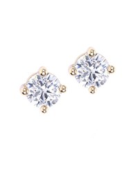 Lonna And Lilly Goldtone Clear Stone Stud Earrings
