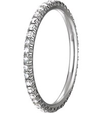 Chaumet 18Ct White Gold And Diamond Stackable Wedding Band