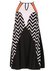 Izabel London Block Colour Swing Dress Black