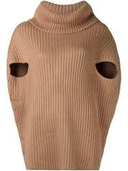 P.A.R.O.S.H. Cowl Neck Jumper Brown