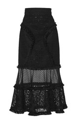 Andrew Gn Flared Hem Skirt Black