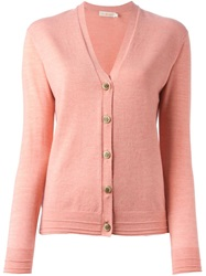 Tory Burch V Neck Cardigan Pink And Purple