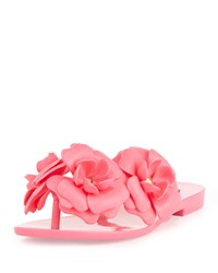 Melissa Shoes Harmonic Garden Flower Embellished Thong Sandals Pink