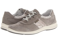 Mephisto Laser Perfore Light Grey Bucksoft Light Sand Boa Women's Lace Up Casual Shoes Gray