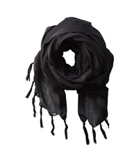 Love Quotes Linen Tassel Scarf Meditation Scarves Black