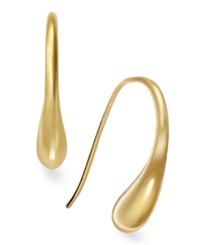 Studio Silver 24K Gold Over Sterling Silver Earrings Teardrop J Hoop Earrings