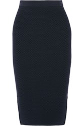 Jonathan Simkhai Textured Stretch Knit Pencil Skirt Navy