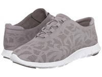 Cole Haan Zerogrand Perf Trainer Ironstone Perf Nubuck Optic White Women's Shoes Gray