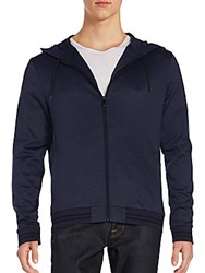 Vince Camuto Hooded Jacket Navy