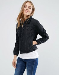 Pepe Jeans Ella Shearling Denim Jacket 000Denim Black