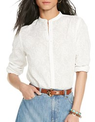 Lauren Ralph Lauren Cotton Button Up Shirt White