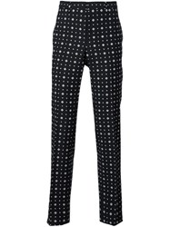 Givenchy Mix Print Tailored Trousers Black
