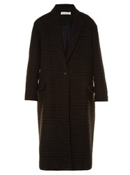 Etoile Isabel Marant Garth Hound's Tooth Check Coat Brown Multi