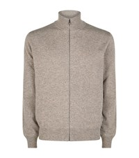 Corneliani Cashmere Marle Lounge Top Male Light Brown