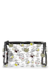 Forever 21 Cats And Wifi Makeup Bag Clear Multi