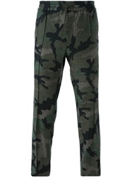 Valentino Camouflage Trousers Green