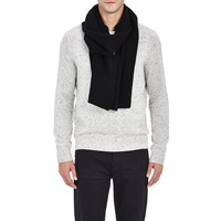 Barneys New York Honeycomb Stitched Scarf Black