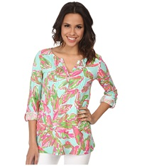 Lilly Pulitzer Dorothy Top Multi In The Vias Women's Clothing