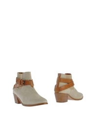 Sessun Ankle Boots Ivory