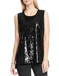 Vince Camuto Sleeveless Sequin Top Black