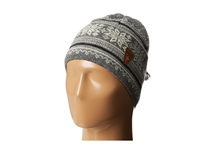 Dale Of Norway Grotli Hat Smoke Cream Light Charcoal Dark Charcoal Knit Hats Gray