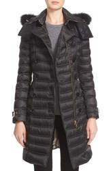 Burberry Women's Chesterford Long Puffer Coat With Genuine Fox Fur Trim