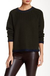 Loma Mini Cable Knit Wool Blend Sweater Green