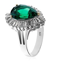 Carat Emerald Leaf Ring Female Silver