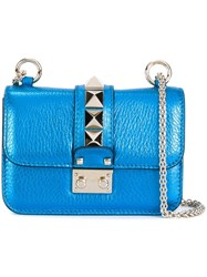 Valentino 'Glam Lock' Shoulder Bag Blue