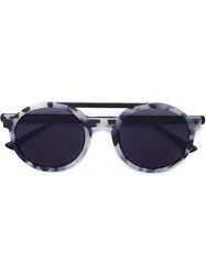 Thierry Lasry Dr. Woo X Thierry Lasry Round Frame Sunglasses Black