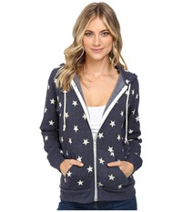 Alternative Apparel Printed Adrian Hoodie Stars Women's Sweatshirt Multi