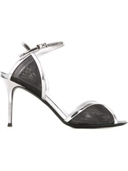 Giuseppe Zanotti Design Mesh Panel Sandals Black