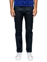 Ted Baker Stan Straight Fit Rinse Wash Jeans Rinse Denim