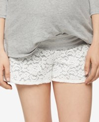 A Pea In The Pod Maternity Lace Shorts Heather Grey