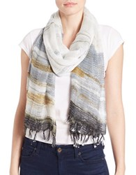 Collection 18 Ethereal Striped Scarf Grey