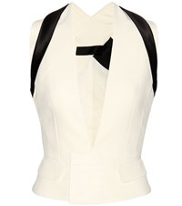 Haider Ackermann Cotton And Silk Crepe Waistcoat White