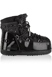 Moon Boot Jimmy Choo Mb Buzz Embellished Faux Patent Leather And Shell Snow Boots