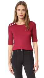 Versus Short Sleeve Sweater Biking Red