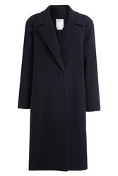 Dkny Wool Coat Blue
