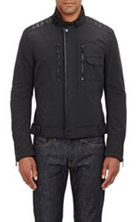 Ralph Lauren Black Label Leather Panel Tech Jacket Black