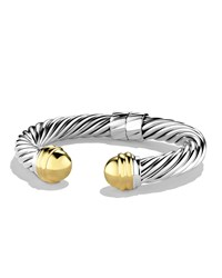 Cable Classics Bracelet With Gold Domes David Yurman