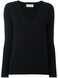 Zanone V Neck Jumper Black